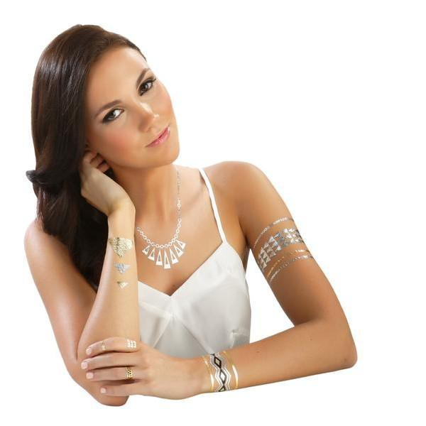 Hot Jewels Metallic Temporary Tattoos - Assorted Styles!
