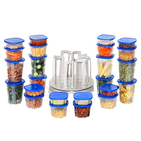 All Deals - Spin 'N Store: 49-Piece Food Storage & Container Carousel Set