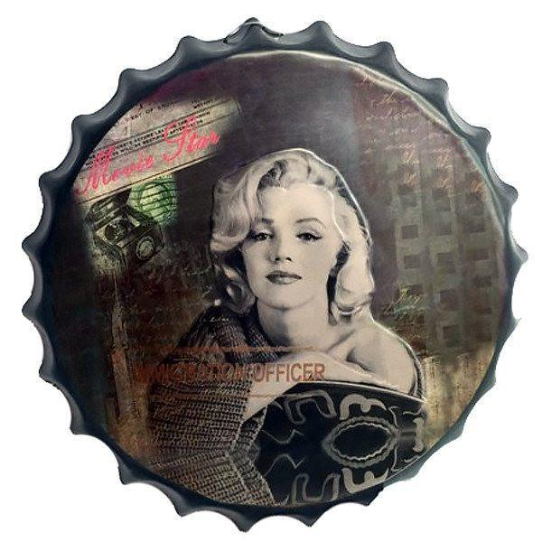 "All Deals - Vintage Bottle Cap Tin Sign -  ""Movie Star"""