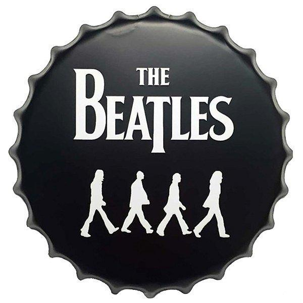 "All Deals - Vintage Bottle Cap Tin Sign -  ""The Beatles"""