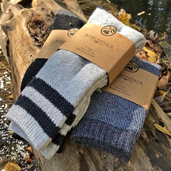 Apparel - Adirondack Branded Wool Blend Unisex Boot Socks - Assorted Colors