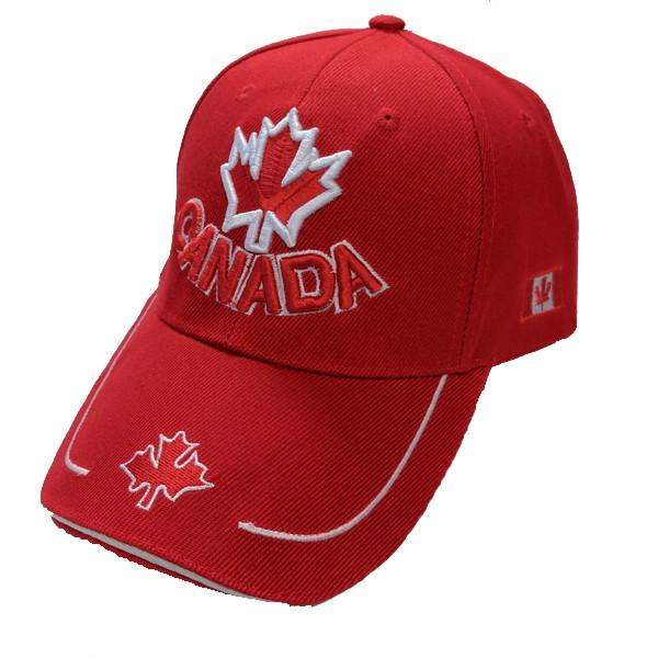 Apparel - Canada Limited Edition Red & White Maple Leaf Stitched & Embroidered Baseball Cap - 4 Colours Available!