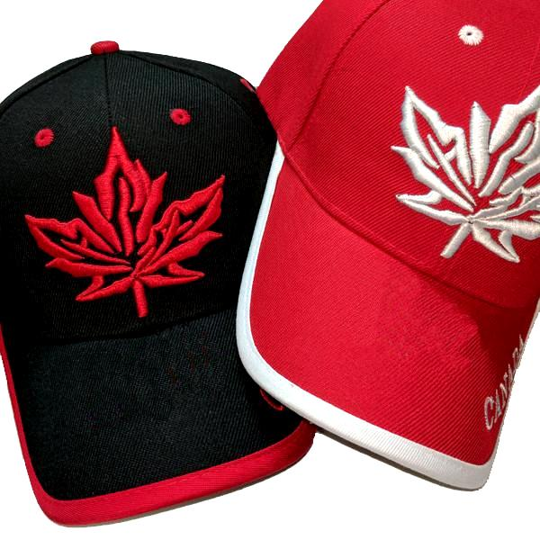 Apparel - Canada Limited Edition True North Maple Leaf Stitched & Embroidered Baseball Cap - 4 Colours Available!
