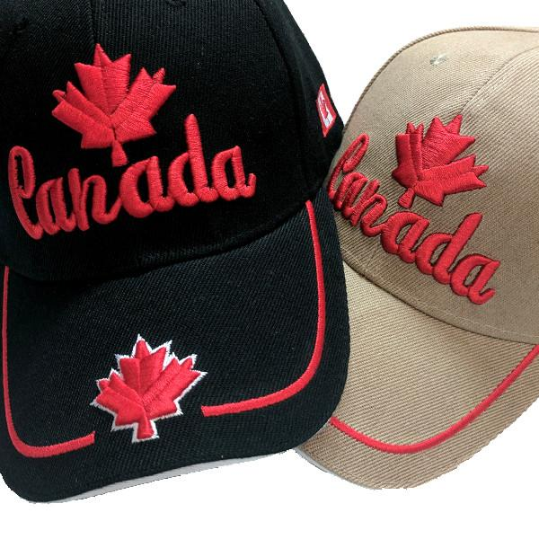 Apparel - Canada Limited Edition Valiant Maple Leaf Stitched & Embroidered Baseball Cap - 4 Colours Available!