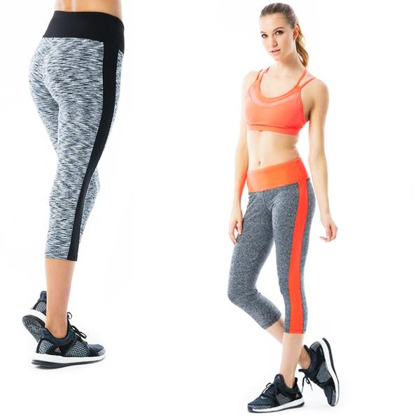 Apparel - Color Block Active Capri Leggings - Assorted Colors
