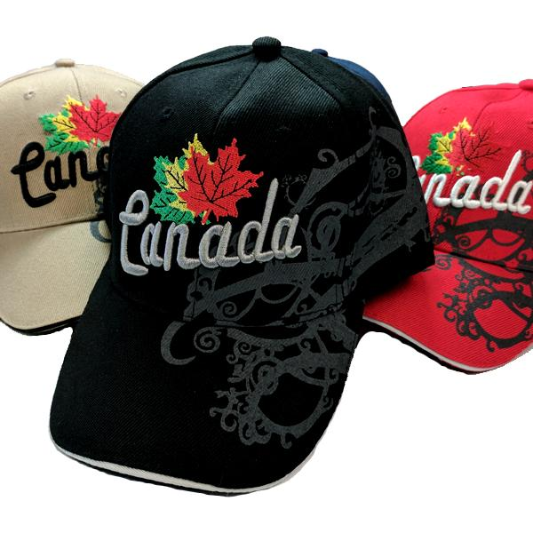 Apparel - Limited Edition Canadian Dream Tri-Colour Maple Leaf Stitched & Embroidered Baseball Cap - 4 Colours Available!