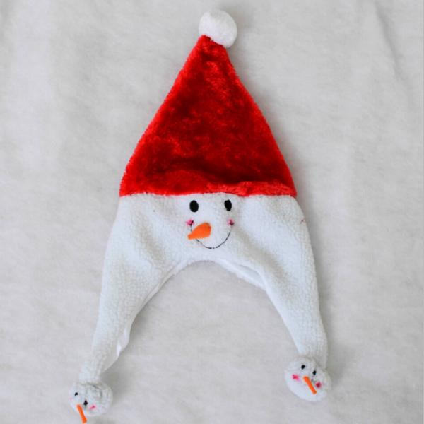 Apparel - Super Plush Frosty Snow Man Hat With Ear Flaps - Multi-Packs Available!