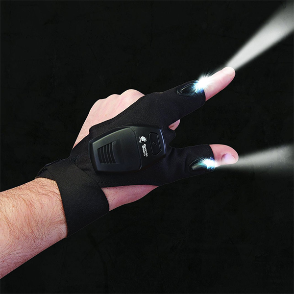 Tactical LED Flashlight Work Glove