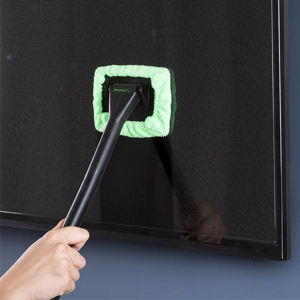 Auto - Pivoting Windshield Wiper With Microfiber Cloth