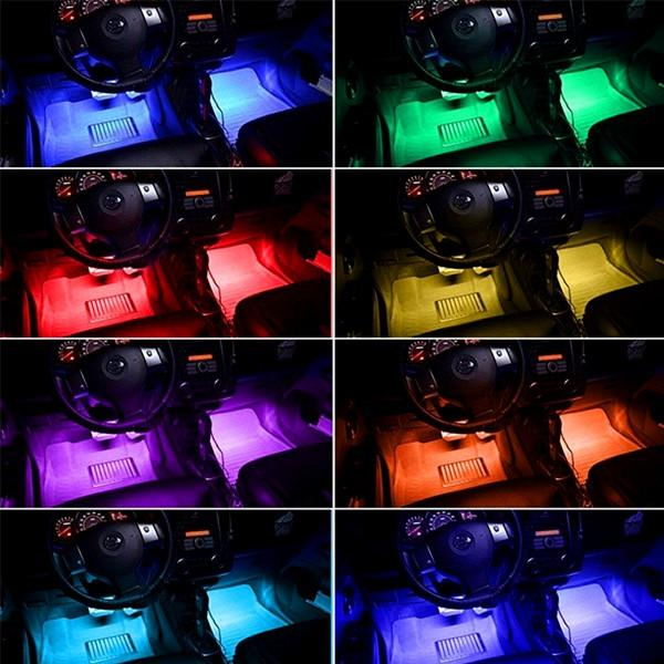Automotive - Atmospheric RGB Car Interior Lighting System With Remote Control