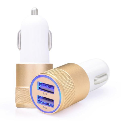 Automotive - Metallic Hi-Speed Dual USB Car Charger