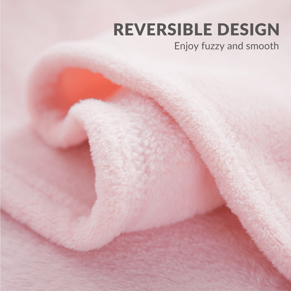 Cozy Ultra-Soft Plush Fleece Throw Blanket - Assorted Colors
