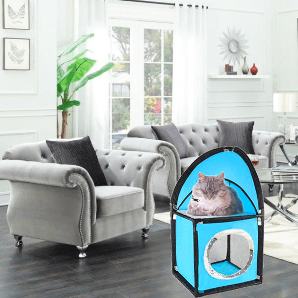 """Foldable Soft Pet Cat Kennel Obstacle House"" For Sleeping and Napping"