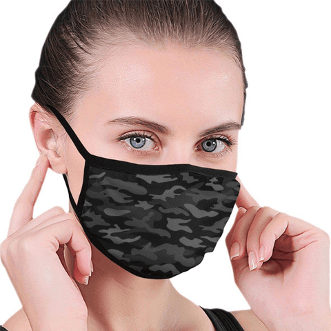 3 Pieces: Camo Cotton Protective Covering Mask