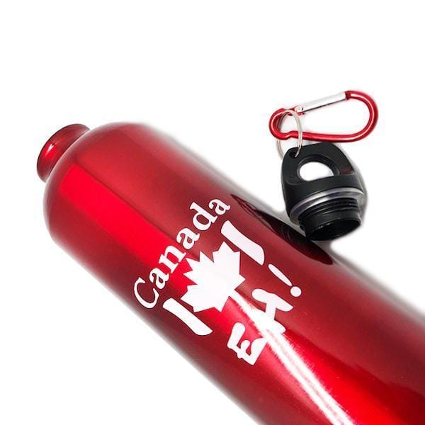 Buy 5, Get 3 Free Metallic Finish Reusable Aluminium Water Bottle with Screw Cap and Carabiner - 2 Styles Available