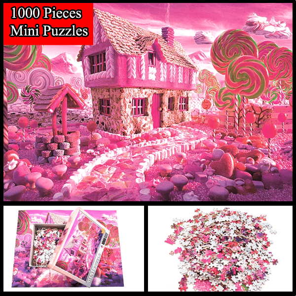 """House of Candies"" 1000 Pieces Mini Jigsaw Puzzles"