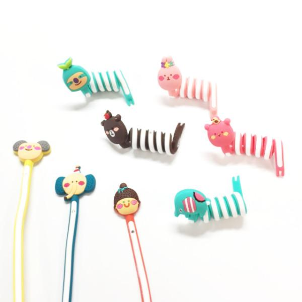 Cellphone Accessories - 8 Pack: Cartoon Cable Tie Organizer