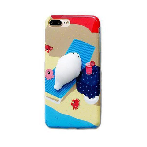 Cellphone Accessories - Beach Tanning Seal Massage Me Phone Case