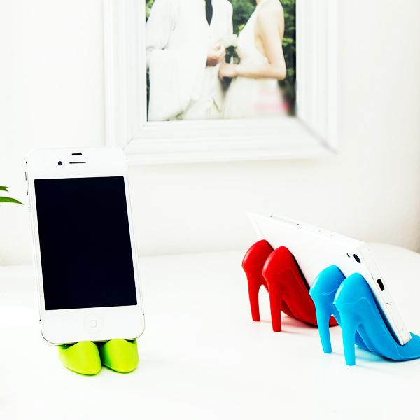Cellphone Accessories - Fashionable High-Heel Smartphone Holder And Stand