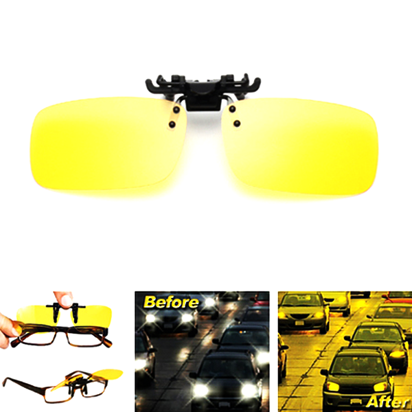 HD Night Vision Anti-Glare Clip On Glasses - Fits Any Style Of Glasses!