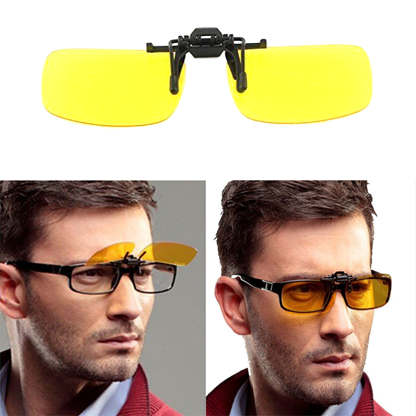 Buy 1 Get 1 Free - HD Night Vision Anti-Glare Clip On Glasses - Fits Any Style Of Glasses!