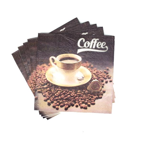 """Fresh Morning Brew"" Printed Disposable Table Napkin - Pack Includes 20 Sheets"