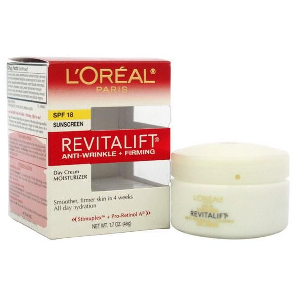 Cosmetics - L'Oreal Paris Revitalift Anti-Wrinkle Firming Day Cream SPF 18