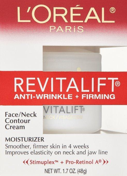 Cosmetics - L'Oreal Paris: RevitaLift Anti Wrinkle + Firming Face/Neck Contour Cream