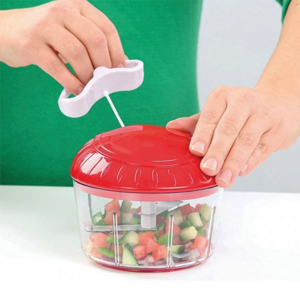 High-Speed Manual Food Processor With Stay-Sharp Military Grade Blades