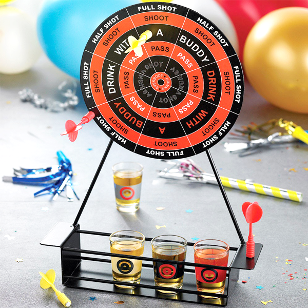 Mini Magnetic Darts Shot Game With 4 Shot Glasses