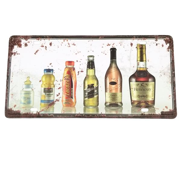 Decor - Drinking Life Cycle Vintage License Plate Wall Decor Sign