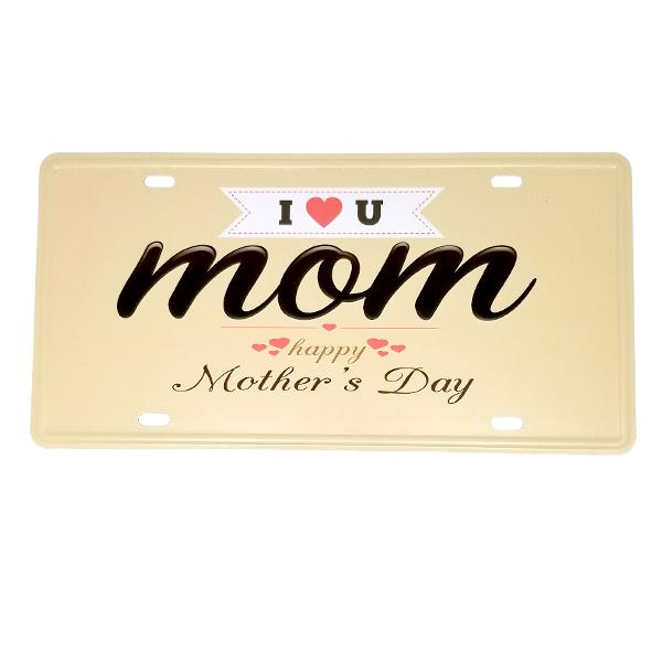 Decor - Mother's Day Vintage License Plate Wall Decor Sign