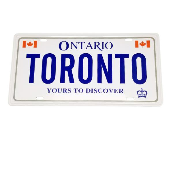 Decor - Toronto License Plate Wall Decor Sign