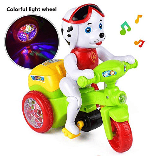 Puppy Motorcycle With Lights & Music