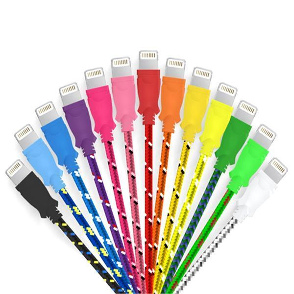 Electronics - 9-Foot Braided Lightning IPhone Cable - Assorted Colors