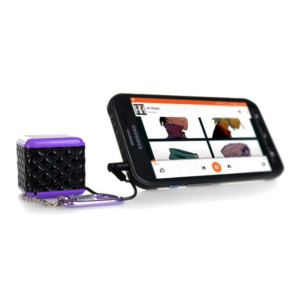 Electronics - Boom Cube Portable Keychain Speaker With Built-In Amplifer - Assorted Colors