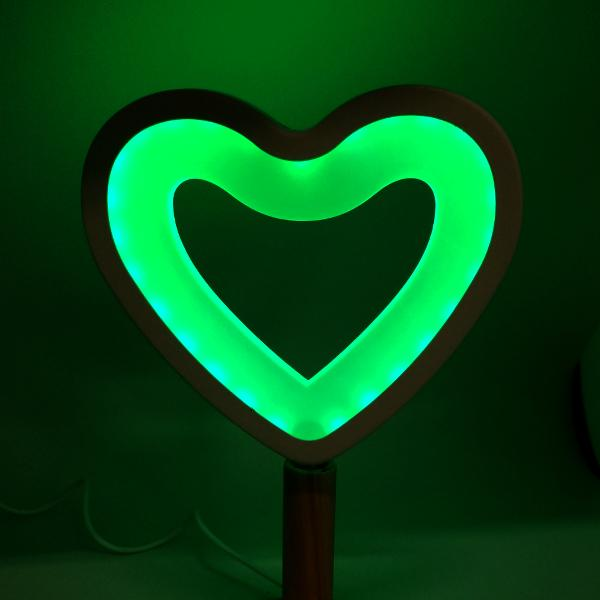Electronics - LED Heart-Shaped Lamp With Wooden Base