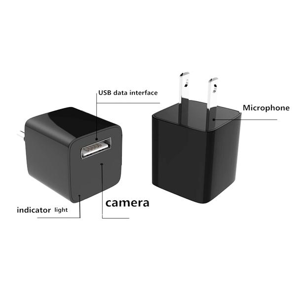 Electronics - USB Wall Charger With Hidden HD Spy Camera