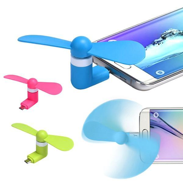 Buy 1 Get 1 Free For Only $9.99 + Free Shipping! Mini Portable Cell Phone Cooling Fan - Available for iPhone and Android Devices!