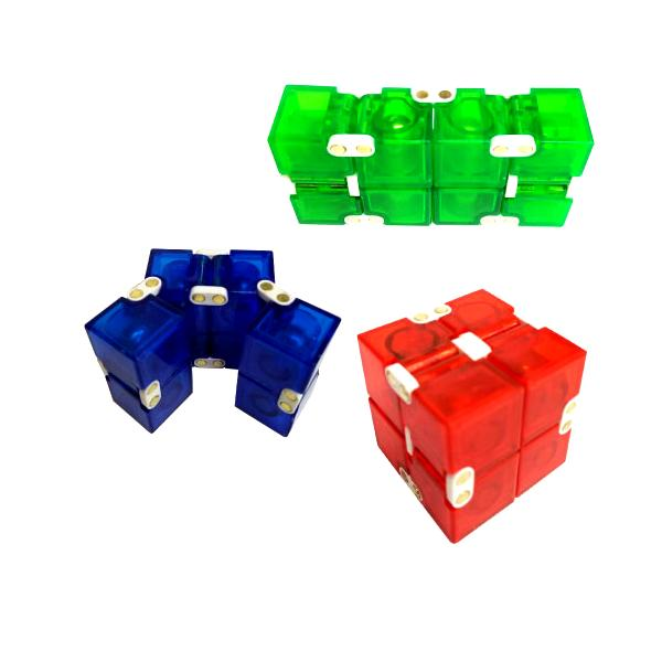 Gadgets - Infinite-Folding Creative Cube Fidgeting Gadget - Assorted Colors
