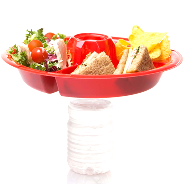 2-In-1 Reusable Food & Beverage Party Plates - Multi-Packs Available!