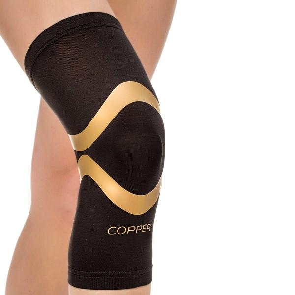 Health - Copper-Infused Knee Sleeve Pro With Kinesiology Bands