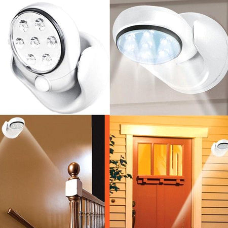 Home - 7-LED Motion-Activated Weather-Resistant Cordless Light