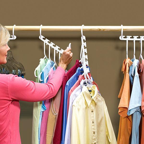 "FACTORY DIRECT PRICE - ""5-Slot Space-Saving Smart Hanger"" - 2 FOR ONLY $14.99 or 4 FOR ONLY $24.99!"