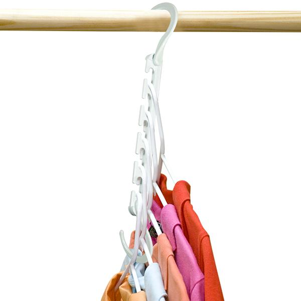 Home - 8 Pack: Universal 5-Slot Space-Saving Smart Hanger