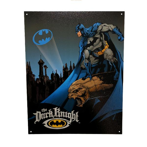 "Home - Batman ""The Dark Knight"" Vintage Collectible Metal Wall Decor Sign - 16"" X 12.5"""