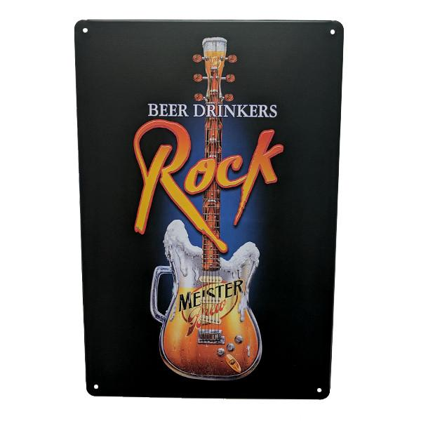 "Home - ""Beer Drinkers Rock"" Vintage Collectible Metal Wall Decor Sign"