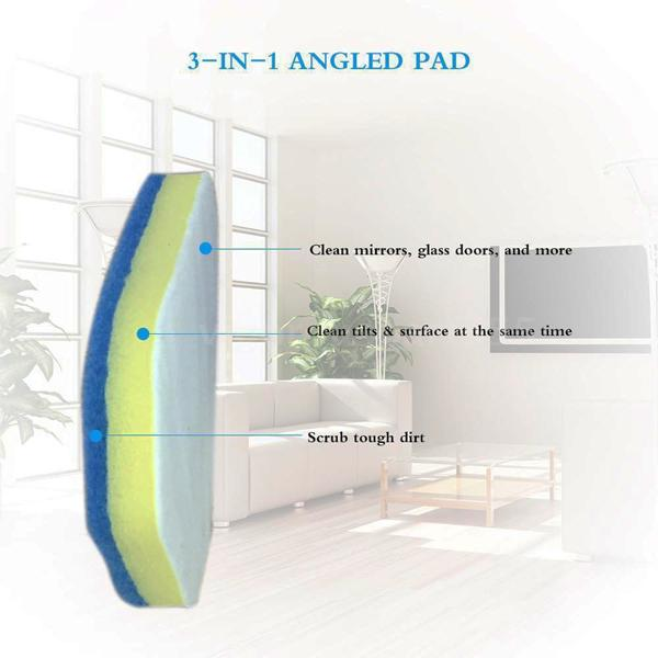 Home - Easy-Reach Angled Srubbing Pad With Ergonomic Telescopic Handle