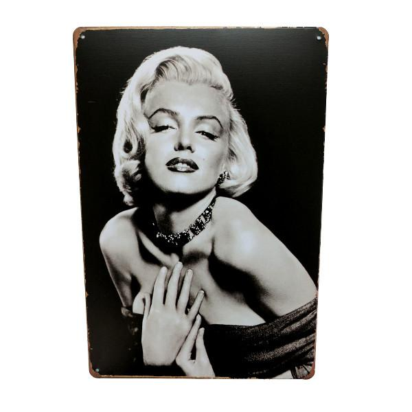 Home - Iconic Black & White Marilyn Vintage Collectible Metal Wall Decor Sign