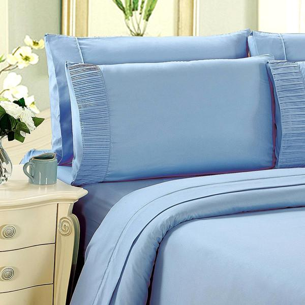 Home - Luxury 6-Piece Super Soft Deep-Pocket Bamboo Bed Sheet Set - Assorted Colours
